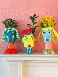 Vase Crafts, Craft Stick Crafts, Wood Crafts, Crafts For Kids, Projects For Kids, Art Projects, Project Ideas, Drum Craft, Colored Tape