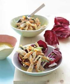 Chicken Salad With Herbs and Radicchio recipe from realsimple.com #myplate #protein #veggies