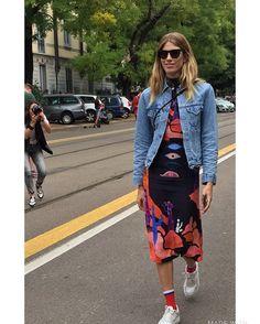 """Ragazza """"Aqua & sapone"""" style by Milano Fashion Week 2016"""