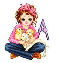 Alfabeto de Dolls con perritos. | Oh my Alfabetos!
