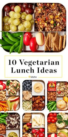 10 Easy Lunch Box Ideas for Vegetarians 10 Easy Lunch Box Ideas For Vegetarians — A Lunchbox for Everyone. Need recipes for make ahead lunches that are vegetarian? These healthy, easy, high protein boxes are quick and cheap to make. Great for kids, teens, Clean Eating Vegetarian, Easy Vegetarian Lunch, Clean Eating Snacks, Healthy Eating, High Protein Vegetarian Meals, Vegetarian Lifestyle, Vegetarian Recipes For Kids, Easy Vegetarian Meals, High Protein Lunch Ideas