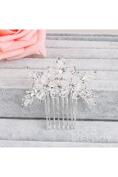 Charming Silver Cloud Alloy Wedding Headpiece with Crystal HS-J1749 #wedding #weddingeaaentials #headpieces #cocomelody #weddingaccessories