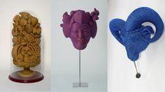 Juguetonas esculturas tejidas de Mozart Guerra