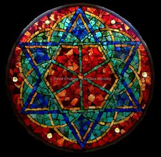 """Kaleidoscope - Blessing - 2013 - 10"""" diameter Also on greeting cards."""
