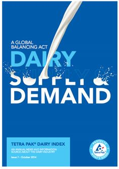 The latest Dairy Index from Tetra Pak, which tracks facts and figures in the global dairy industry, has found that total global demand for milk is set to overtake the available supply with a persistent gap over the next decade. Read more here: http://www.tetrapak.com/DocumentBank/TetraPak_DairyIndex_report_2014.pdf