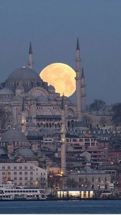 Full Moon in Istanbul Turkey – – – Jack Full Moon in Istanbul Turkey – – Full Moon in Istanbul Turkey – – wallpaper, hintergrund Hagia Sophia, Places Around The World, Around The Worlds, Mosque Architecture, Istanbul Travel, Mekka, Beautiful Mosques, Beautiful Places To Travel, Turkey Travel