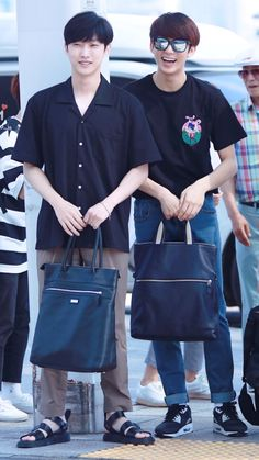 Jinyoung & Channie_ heading to Malaysia_ k wave
