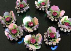 2 pcs Fashion Flower design sequins patch applique от Laceshine