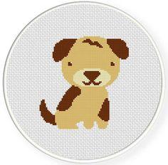 INSTANT DOWNLOAD Stitch Puppy Dog PDF Cross Stitch Pattern Needlecraft