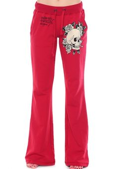 EdHardy - Skull and Rose Drawstring Pants.