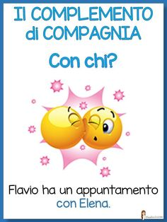 Analisi logica Italian Grammar, Italian Vocabulary, Baby Corner, Learning Italian, Emoticon, Teaching, Education, School, Italy