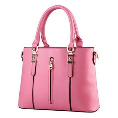 High Quality PU Leather Women Shoulder Bag Zipper Handbags Cross Body Bags