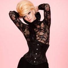 maya hansen black corset. #corset #waist #black #vintage #lace #sexy #fashion