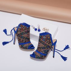 You and your TRIBE can standout in these laced up tassel shooties.