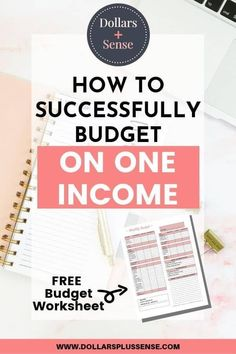 Learn how to budget on one income. This post will show you how to do a budget for single income families, single moms, or stay at home moms and dads. These budgeting tips will help you with frugal living, saving money, and paying off debt. Budgeting Finances, Budgeting Tips, Making A Budget, Making Ideas, Money Tips, Money Saving Tips, Money Budget, Single Mom Help, Single Moms