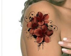 Short-term Tattoo Shoulder Flower Super Thin Realistic Fake Tattoo designs You will receive one flower tattoo and complete instructions. Dimension: five Cover Up Tattoos, Body Art Tattoos, Small Tattoos, Sleeve Tattoos, Crotch Tattoos, Stomach Tattoos, Girl Tattoos, Tattoos Schulter, Realistic Fake Tattoos