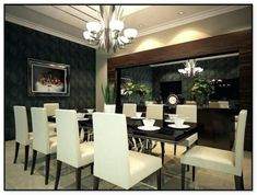 Contemporary Dining Room Ideas With Modern Dining Room Table Ideas And Design Decoration Photo, Decoration Design, Deco Design, Design Design, House Design, Dining Room Wall Decor, Dining Room Design, Dining Room Furniture, Furniture Ideas
