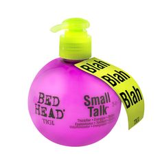 TIGI Bead Head Small Talk 3-in-1 Thickifier, Energiser, Styliser  Thickifier – adds body and volume. Energiser – gives life to limp hair. Styliser – defines, separates and controls. Blah...
