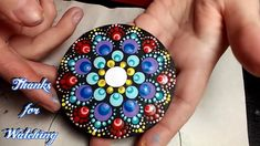 How To Paint Dot Mandalas #15 Carousel Intermediate Difficulty Magnet