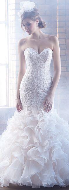 Bellethemagazine wedding dresses | Madison James Bridal 2015 | Floor Ivory Mermaid / Trumpet Sweetheart $$ ($1,001-2,000)