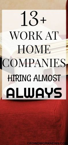 Work at Home Companies Hiring Almost Always Finding a work at home job is a BIG challenge, but it can be easy if you know which companies hire frequently for these roles. Check out this awesome list of work at home companies which are hiring almost Earn Money From Home, Way To Make Money, Earn Money Online, How To Make, Making Money From Home, Hobbies That Make Money, Quick Money, Money Today, Work From Home Companies