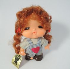 70's Japanese Vintage/Retro Doll, Retro girl, Overalls
