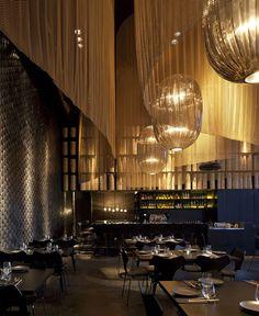 Restaurant Interior Decorating in Golden Color Scheme #restaurant, #decor…