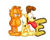 Alfabeto animado de Oddie y Garfield. | Oh my Alfabetos!