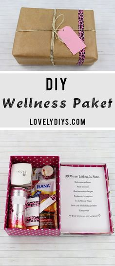 Tinker DIY wellness package – beautiful gift idea for women for Mother's Day, birthday or just in between. # Gift idea Tinker DIY wellness package – beautiful gift idea for women for Mother's Day, birthday or just in between. Diy Holiday Gifts, Diy Gifts, Christmas Diy, Handmade Gifts, Cute Gifts, Gifts For Mom, Diy Natal, Diy Cadeau, Crafts Beautiful