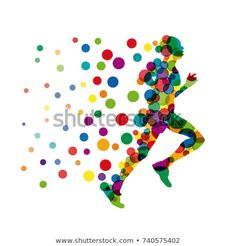 Vector sign man runs fast, runner with points and balloons Poster Background Design, How To Run Faster, Athletes, Logan, Balloons, Sport, Signs, Tattoos, Drawings