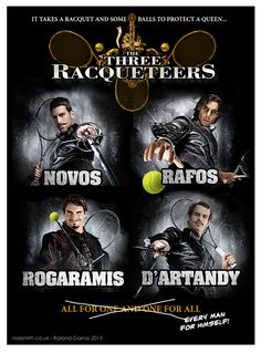 The Three Racqueteers - Roland Garros 2015