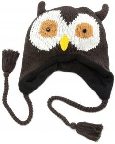 Fun brown owl hat for the winter and it's a laplander hat so your ears keep warm to. Knitted Animals, Knitted Hats, Owl Hat, Animal Hats, Girl With Hat, Keep Warm, Caps Hats, Cute Girls, Women's Accessories