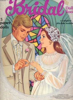 Romantic Vintage Bridal Doll Paper Doll Book~Whitman, 1978-UNCUT, Mint