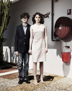 Kara Hayward and Jared Gilman (Suzy Bishop and Sam Shakusky in Moonrise Kingdom, directed by Wes Anderson).