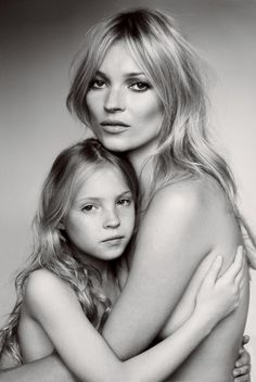 Kate Moss and her daughter photographed by Mario Testino, Vogue, September 2011.