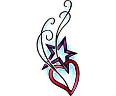 Heart Tattoo Design Body Stencil Art