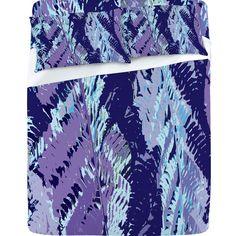 Rosie Brown Amethyst Ferns Sheet Set  #bedding #bed #sheets #art #abstract #homedecor #denydesigns