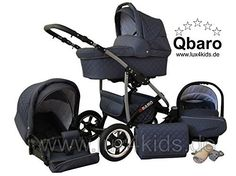 Lux4Kids Q Baro 3 in 1 Pram Combi Stroller (car seat incl. adapter, rain cover, mosquito net, swivel wheels, 9 colors) 01 graphite, http://www.amazon.co.uk/dp/B00NMFRKYO/ref=cm_sw_r_pi_awdl_vvq8vb05NQM9Q