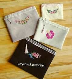 Embroidery Purse, Hand Embroidery Designs, Ribbon Embroidery, Embroidery Stitches, Embroidery Patterns, Cross Stitch Patterns, Bag Pattern Free, Embroidered Bag, Beautiful Handbags