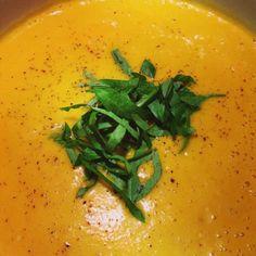 Apple, Ginger, Roasted Butternut Squash Soup