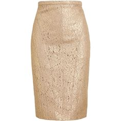 No21 Metallic Lace Pencil Skirt found on Polyvore