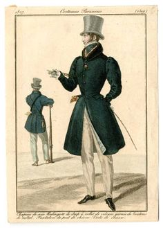 Mens Wear 1827, Plate 2519 Costume Institute Fashion Plates