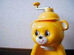 yellow bear shaved ice machine/うちにあったなあ。なつかしいな。