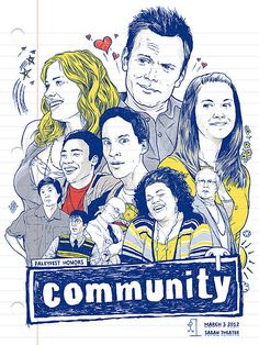 Community Episode 3.11 Preview - We also have a unique, hand-drawn promo poster to celebrate this NBC comedy's long-awaited return Thursday, March 15 at 8 PM ET.