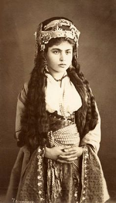 GIrl from Lebanon -Tancrede Dumas, 1875