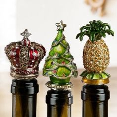 Beautiful Jeweled Wine Bottle Stoppers With Various Designs