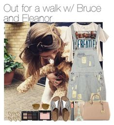 """Out for a walk w/ Bruce and Eleanor"" by larissaglz ❤ liked on Polyvore featuring Calder, Abercrombie & Fitch, Casetify, Gorjana, NARS Cosmetics, Easy Spirit, Pieces, MICHAEL Michael Kors, eleanorcalder and day"