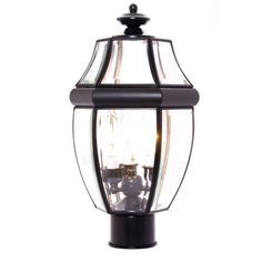 South Park Black Three Light Outdoor Post Light With Clear Glass Maxim Post Mounted Outdoo