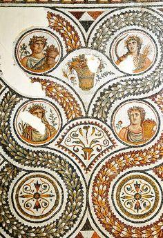 Four Seasons, Bardo Museum, Tunisia Ancient Rome, Ancient Greece, Ancient History, Ancient Greek Architecture, Art And Architecture, Roman History, Art History, Art Romain, Décor Antique