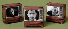 Halloween Special - Haunted TV Trinket Boxes Paper Models - by Ravensblight